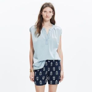 Madewell pop over Chambray tank top L Large